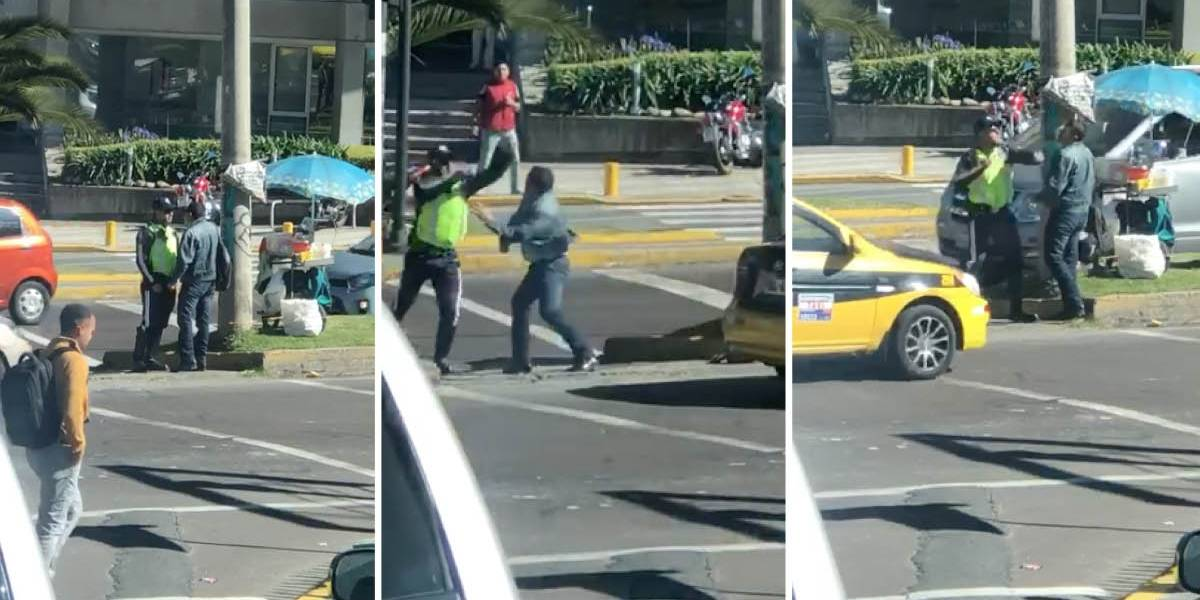 Quito: Video muestra agresión entre ciudadano y agente civil de tránsito