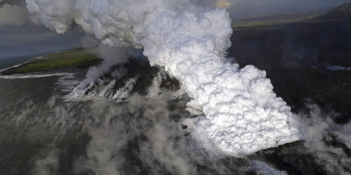 FOTOS: Se evapora el lago más grande de Hawái tras erupción del volcán Kilauea