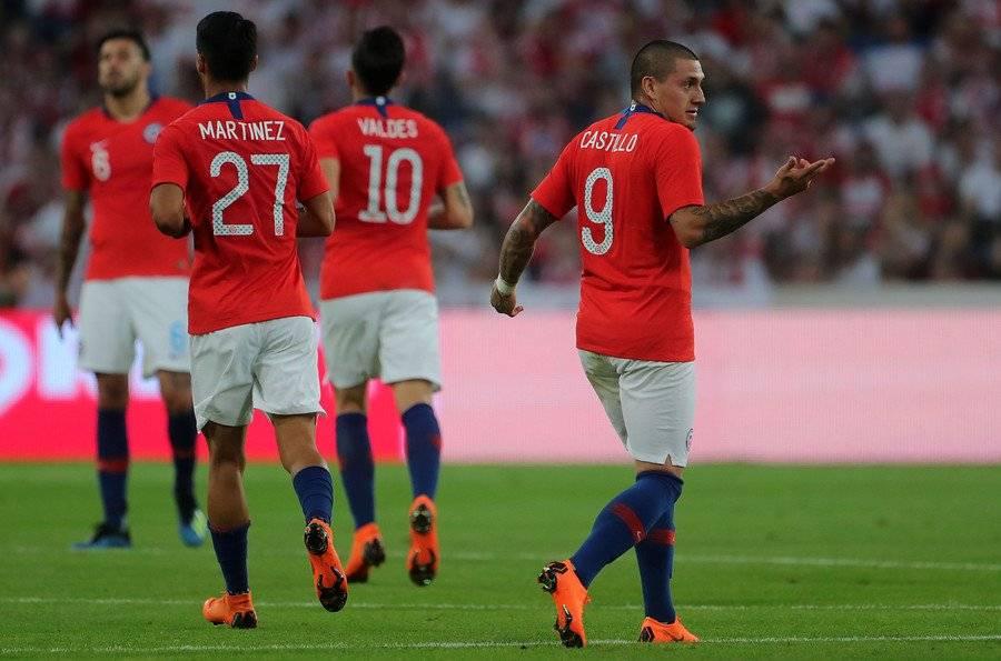 Castillo registra 14 partidos y un gol convertido en la Roja adulta / Foto: Agencia UNO