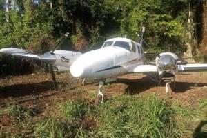 Avioneta incautada en Petén.