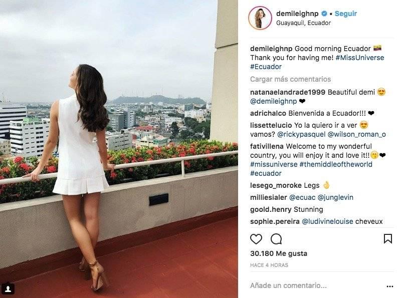 Miss Universo en Ecuador Instagram