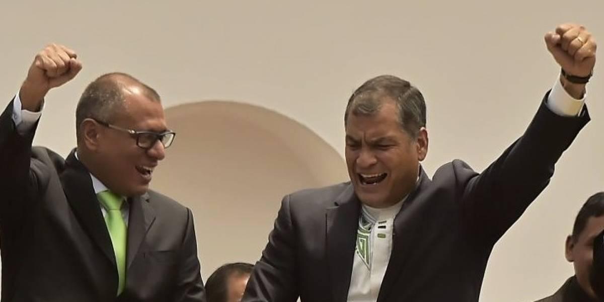 Rafael Correa se pronunció tras ratificación de condena de Jorge Glas