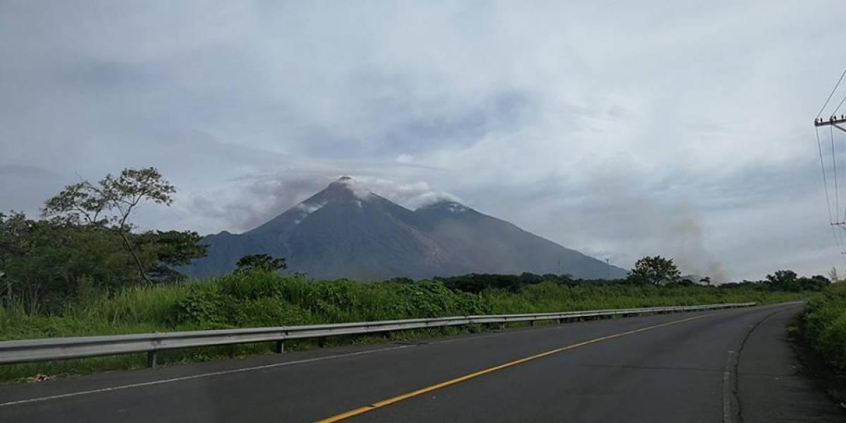 Restringen paso de transporte pesado en diferentes sectores por la actividad volcánica