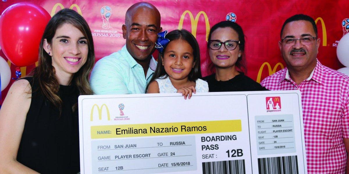 McDonald's Puerto Rico lleva a la Copa Mundial de la FIFA™ a ganadora de su concurso Player Escort