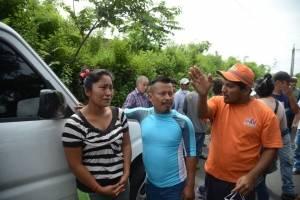 familiares de víctimas del volcán de Fuego