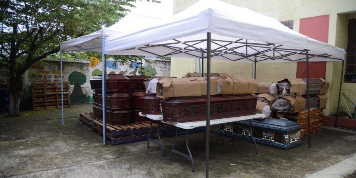 VIDEO. Escuela se convierte en morgue móvil luego de la tragedia del volcán