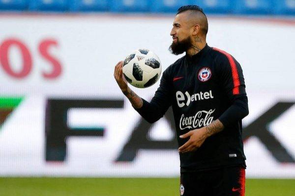 Vidal no quiere saber de la polémica con Bravo / imagen: Photosport