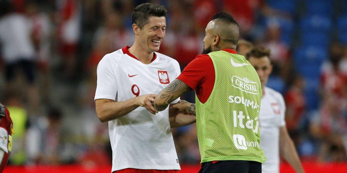 Amor, amistad y fútbol: el lindo reencuentro de cracks entre Arturo Vidal y Robert Lewandowski