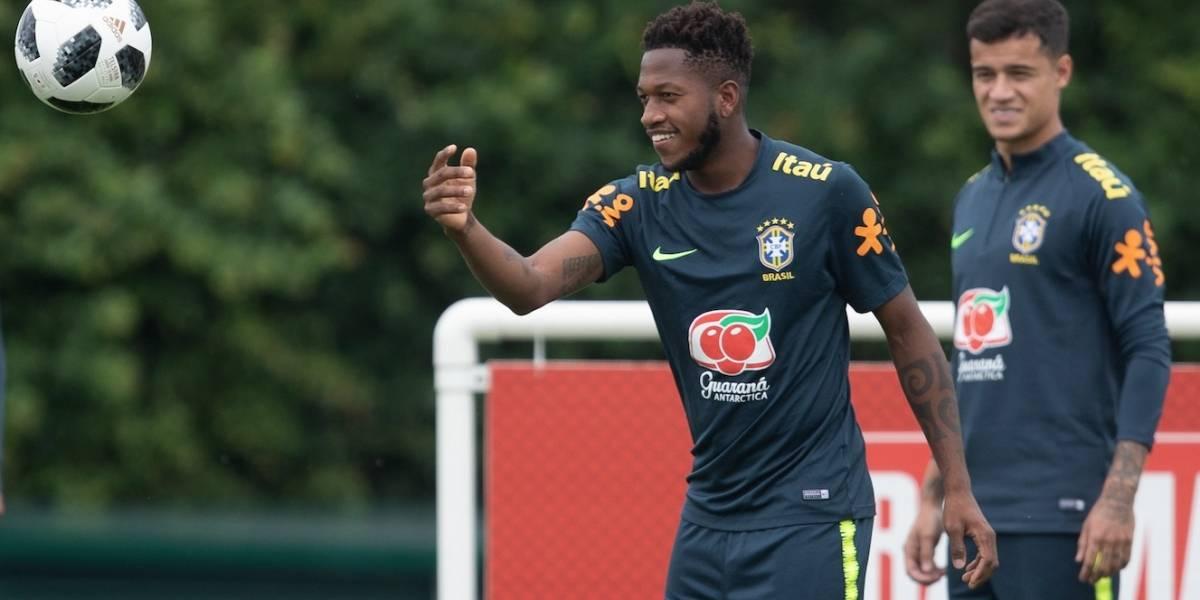 Fred fica fora de treino nesta sexta e preocupa a seleção brasileira