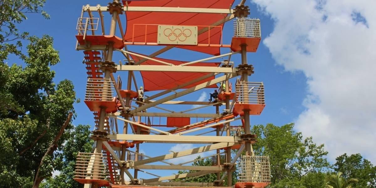 Llega divertido laberinto al Albergue Olímpico
