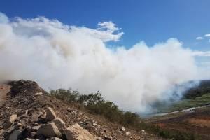 Fuego en vertedero en Vega Baja
