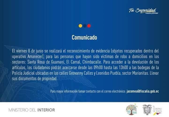 Comunicado Ministerio Interior