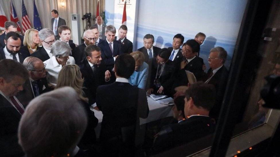 Merkel criticó la actitud de Donald Trump ante el G7
