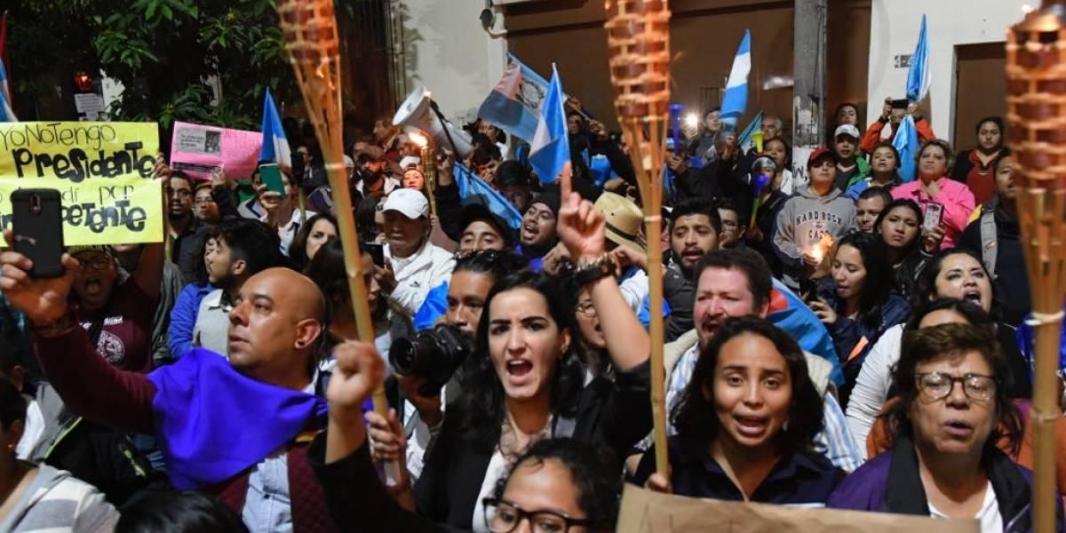 Manifestación convocada por Usac Es Pueblo pide la renuncia de funcionarios de gobierno