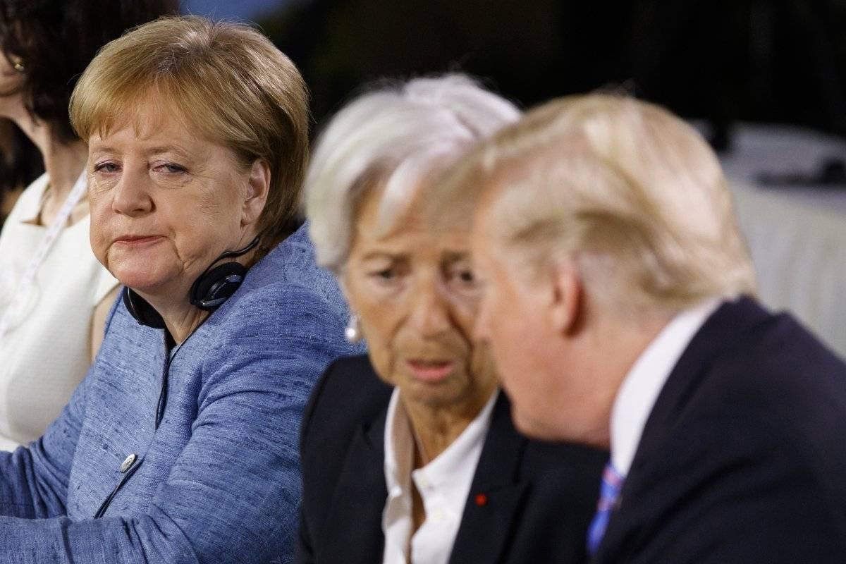 Las reacciones de Angela Merkel, canciller de Alemania y Christine Lagarde, directora del Fondo Monetario Internacional Foto: AP