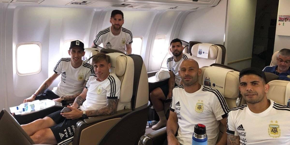 Liderada por Messi, Argentina llega a Rusia y sueña e su tercera estrella