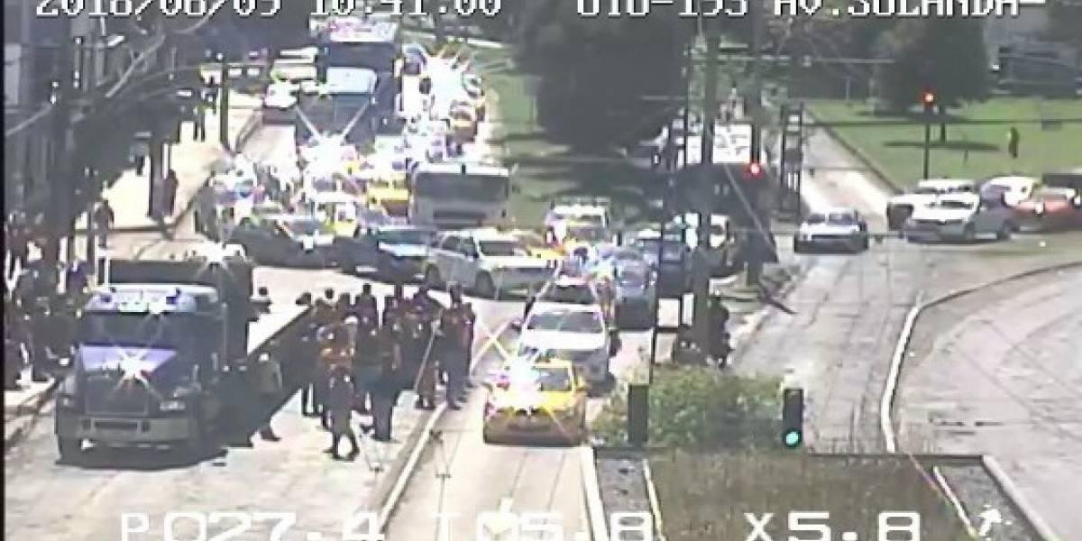 Tomar precauciones en la avenida Teniente Hugo Ortiz por accidente de tránsito