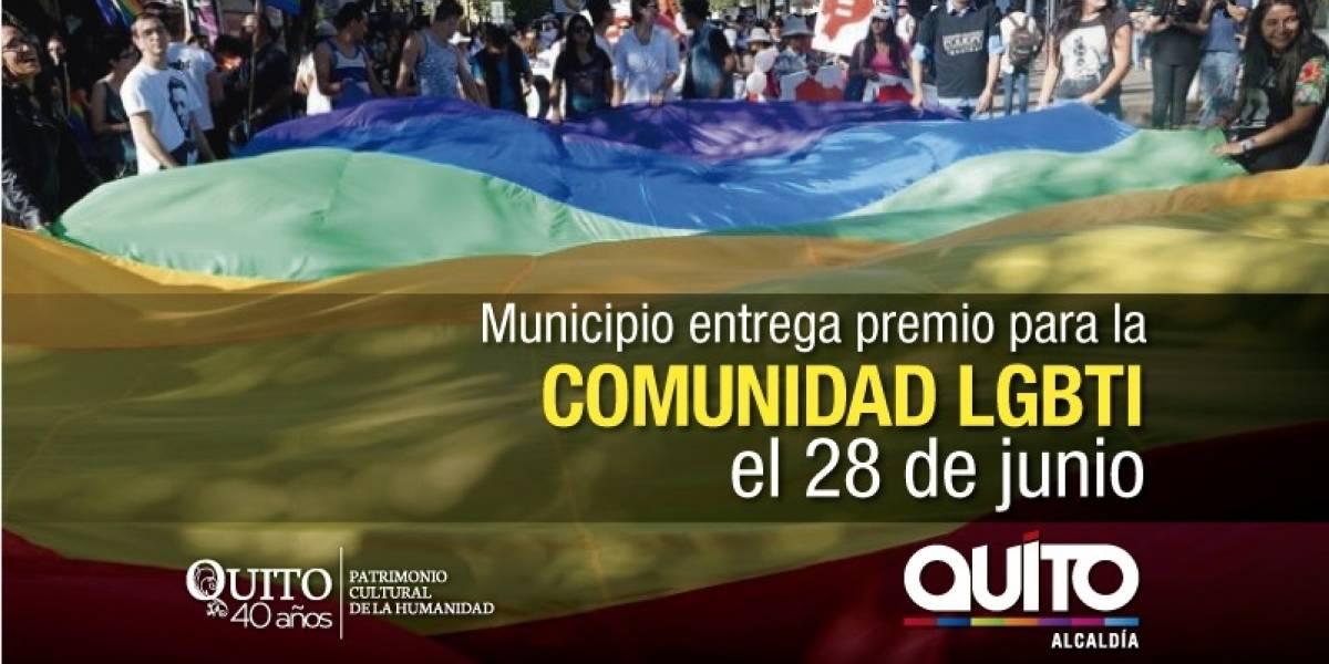Quito premiará a ciudadanos que hayan cumplido labor de defensa de personas LGBTI