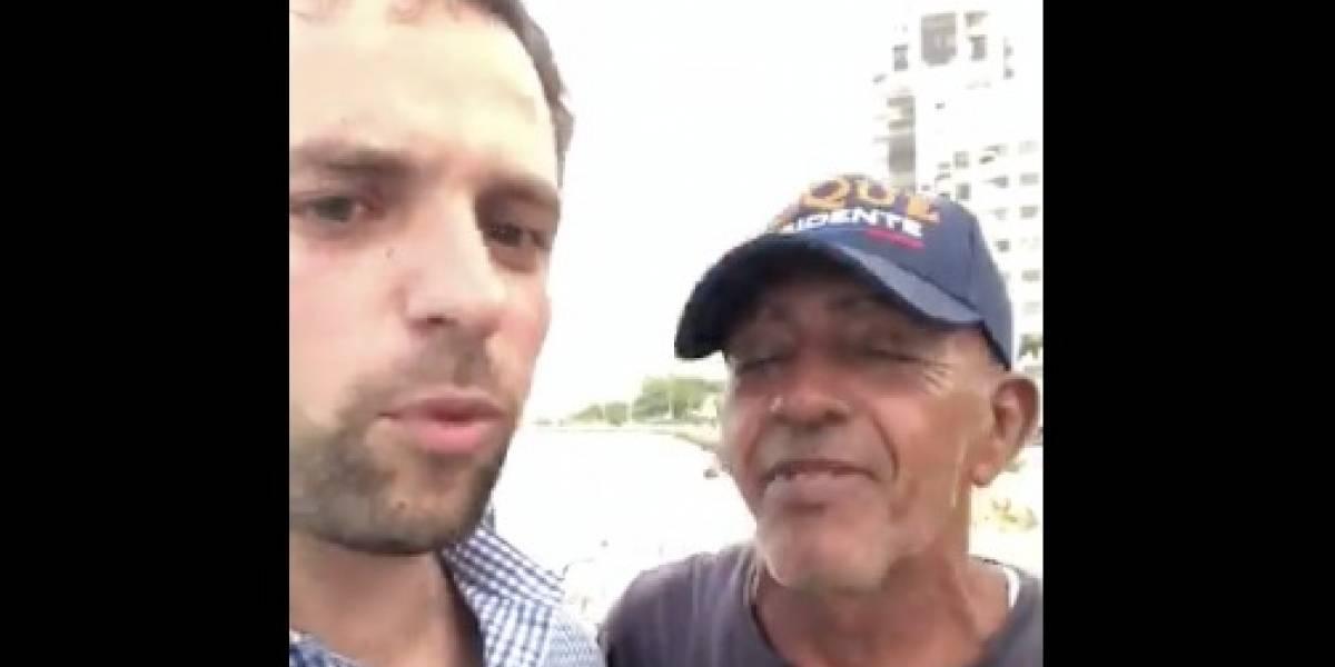 Hombre con gorra de 'Duque Presidente' sorprende diciendo que va votar por Petro