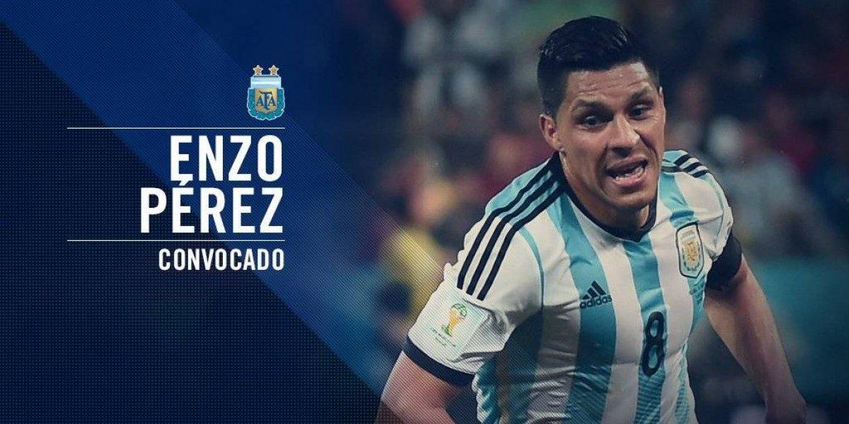 Enzo Pérez sustituirá a Manzani con Argentina en el Mundial