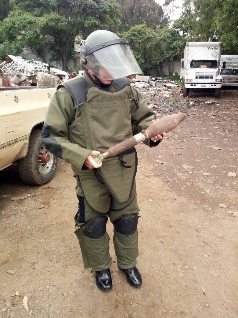 Se localiza un artefacto explosivo en Mixco. Fotos: PNC