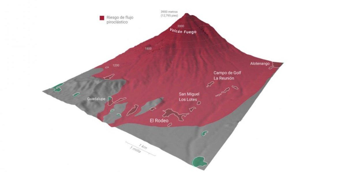 Sociedad Geológica de EE. UU. advirtió en 2001 las áreas amenazadas ante una erupción del Volcán de Fuego