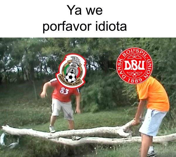 memes, derrota de México sobre Dinamarca Twitter