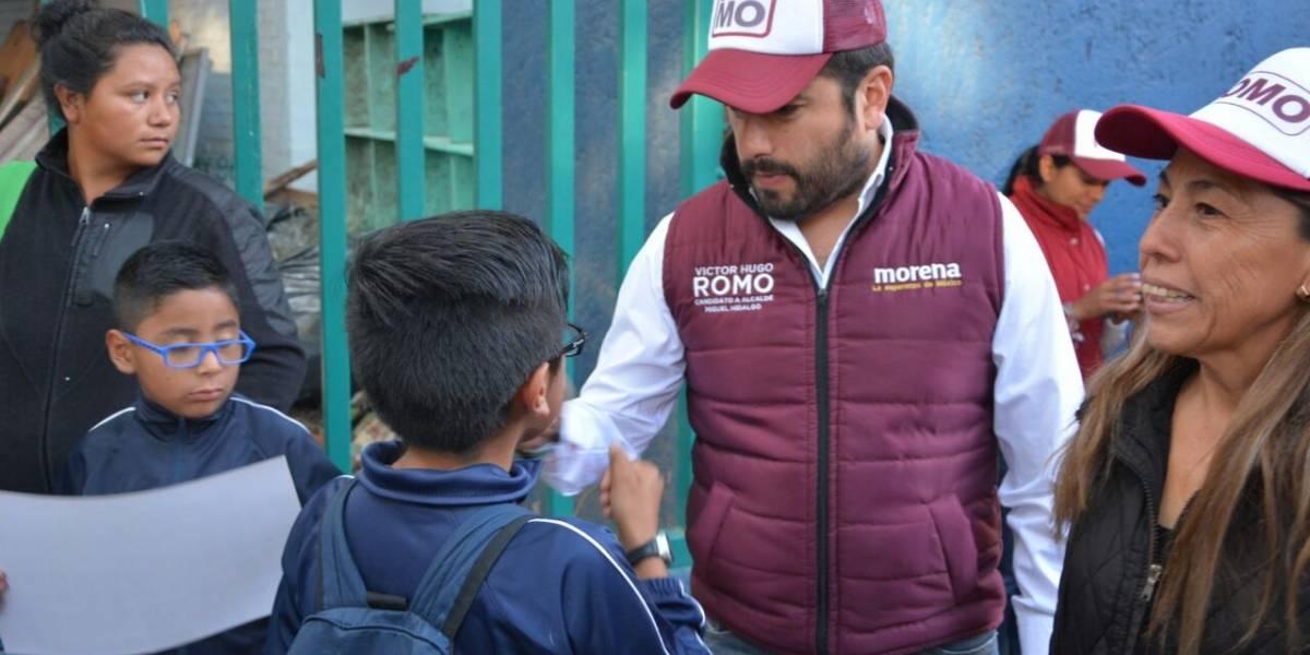 Romo denuncia abandono de escuelas en Miguel Hidalgo