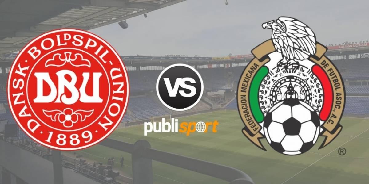 Dinamarca derrota por 2-0 a México en su última prueba para el Mundial
