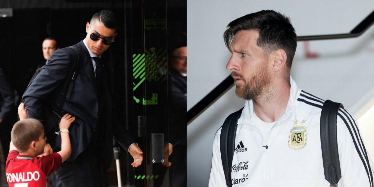 Cristiano y Messi llegan a tierras mundialistas