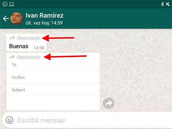 WhatsApp Mensaje Reenviado