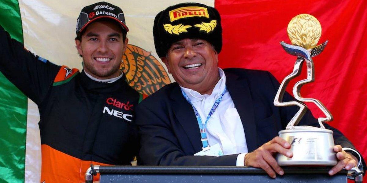 Padre de Checo Pérez aprovecha marco de la F1 para hacer campaña a favor de AMLO