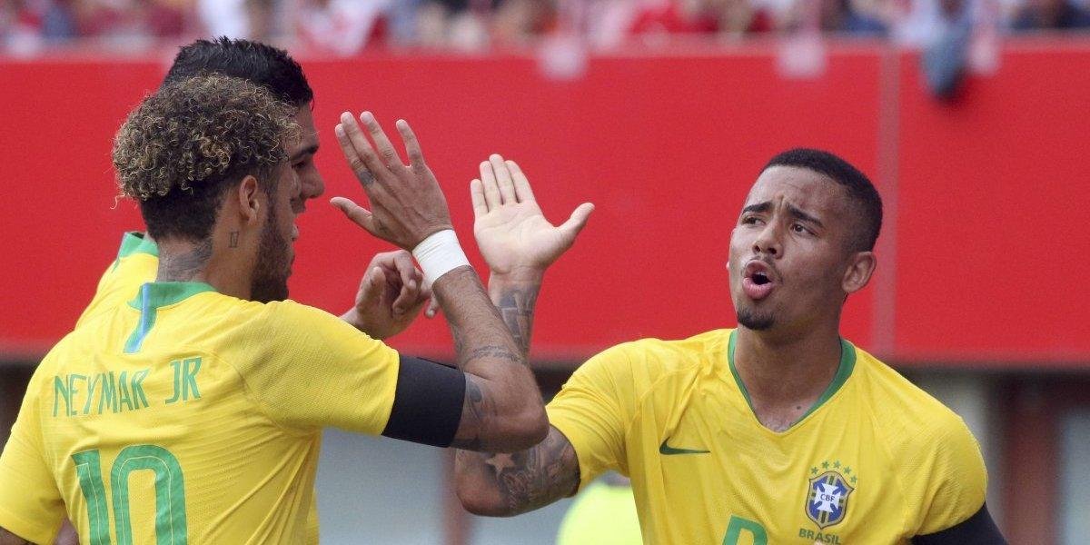Neymar volvió a la titularidad con una anotación en la goleada de Brasil ante Austria