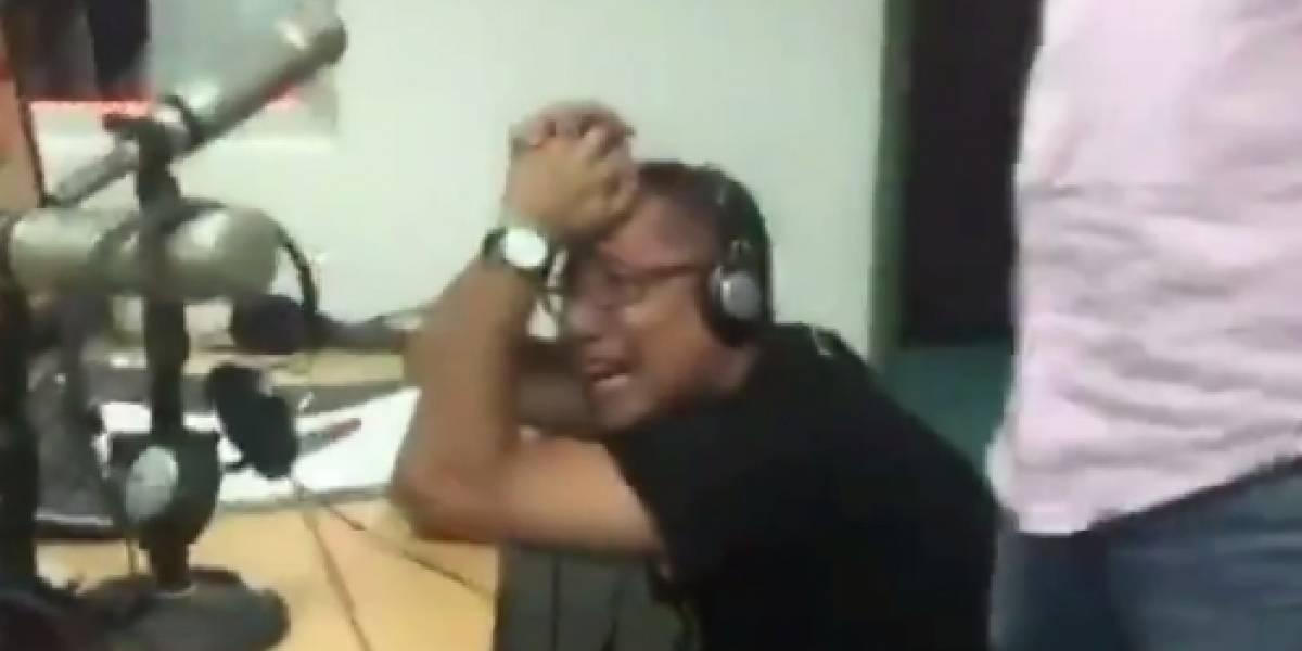 (Video) Periodista de Caracol lloró en plena transmisión al ver al Tolima campeón