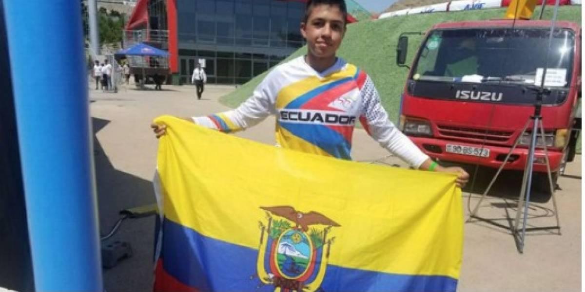 Benalcázar, un campeón mundial en BMX que tiene más competiciones que años