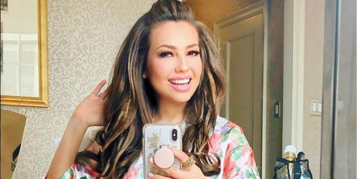 Thalía se une al reto de bailar en carreteras con la canción La Chona