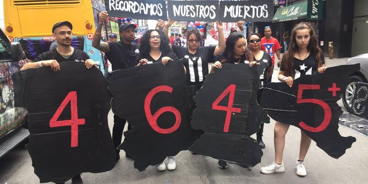 Protestan por muertes tras huracán en Parada Puertorriqueña