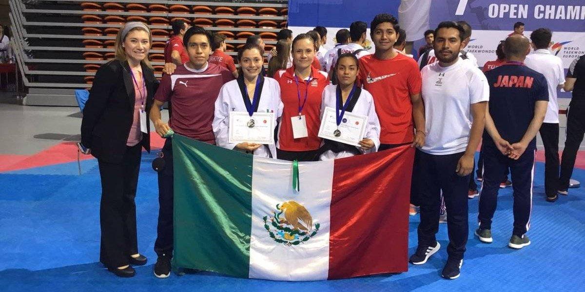 Mexicanas obtienen plata en el Abierto Europeo de Para-Taekwondo