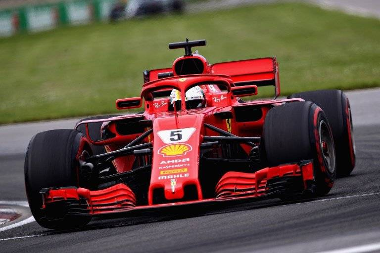 Vettel durante al GP de Montreal