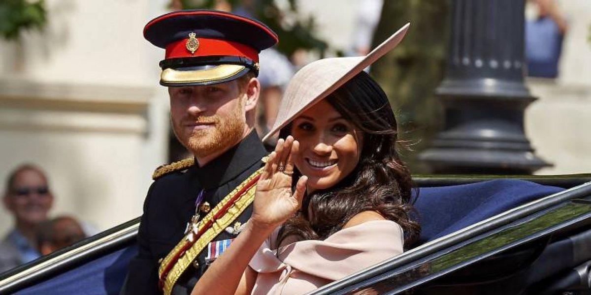 Meghan Markle debutó en el balcón del palacio de Buckingham con la familia real