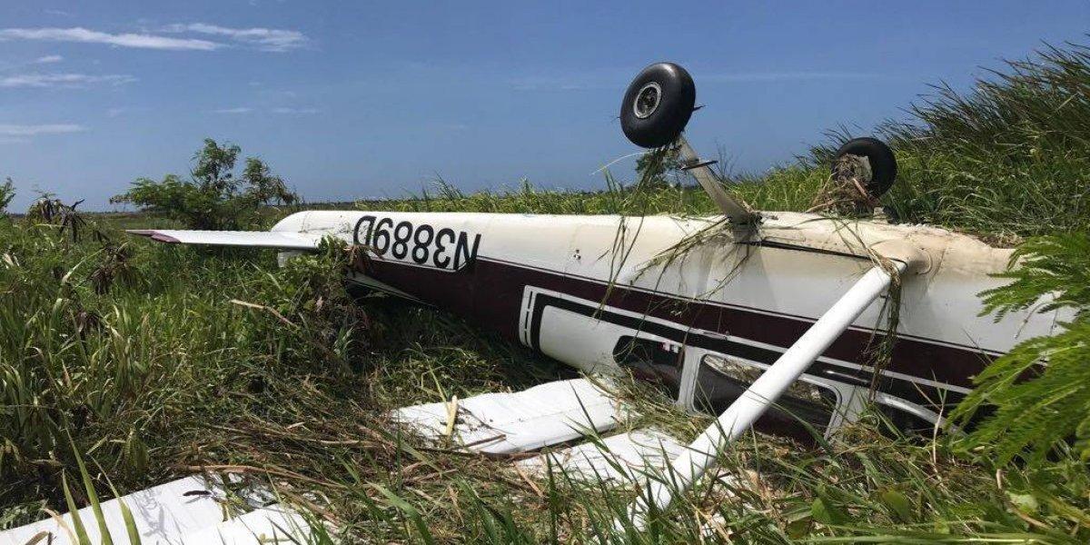 Dos personas heridas tras estrellarse avioneta cerca del Aeropuerto de Arecibo