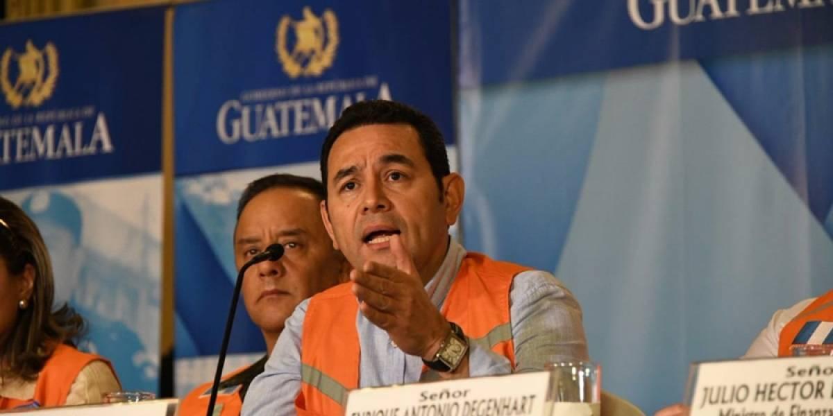 Jimmy Morales responde si renunciaría ante solicitud de manifestantes