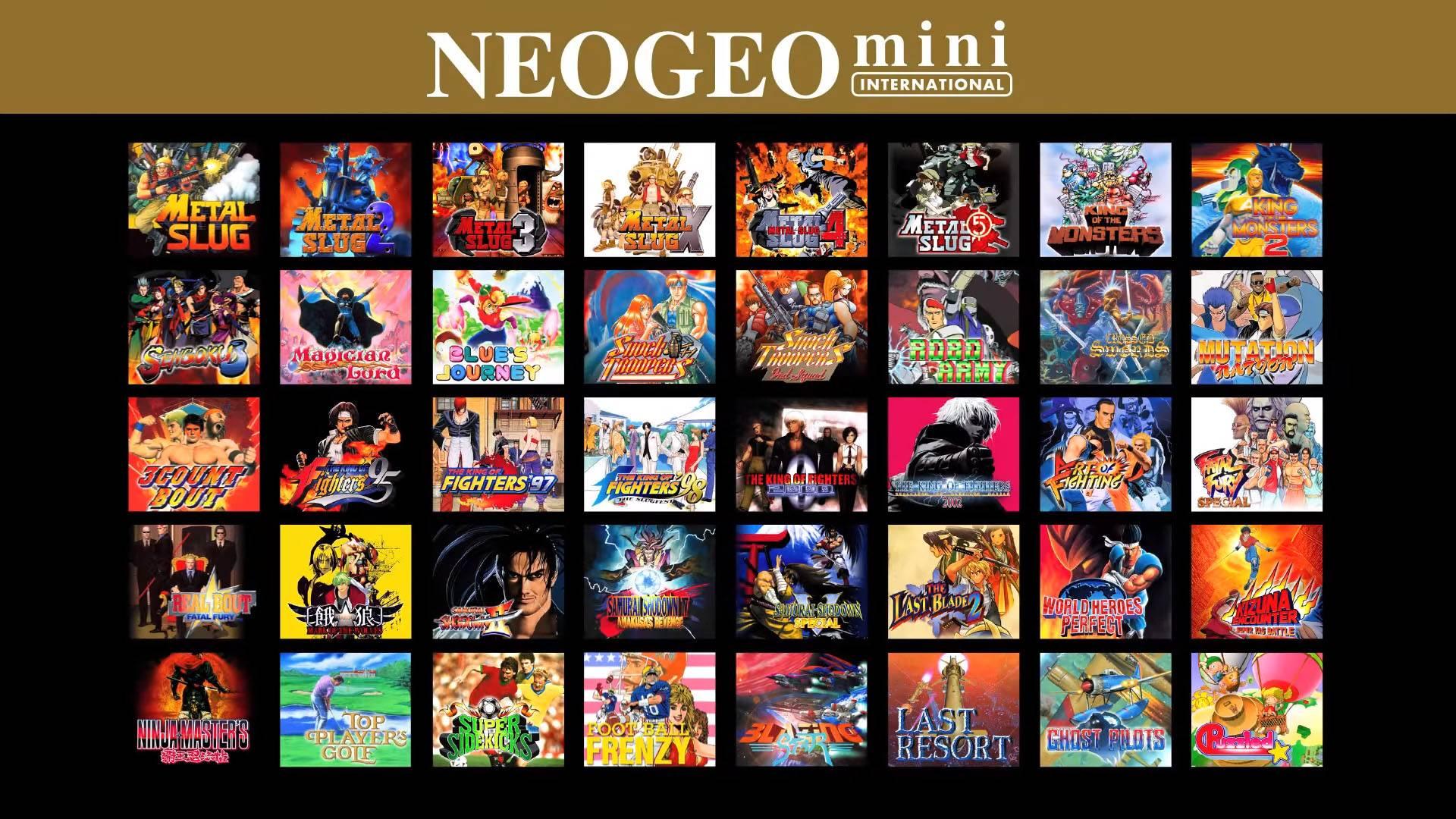 Neo Geo Mini I Games