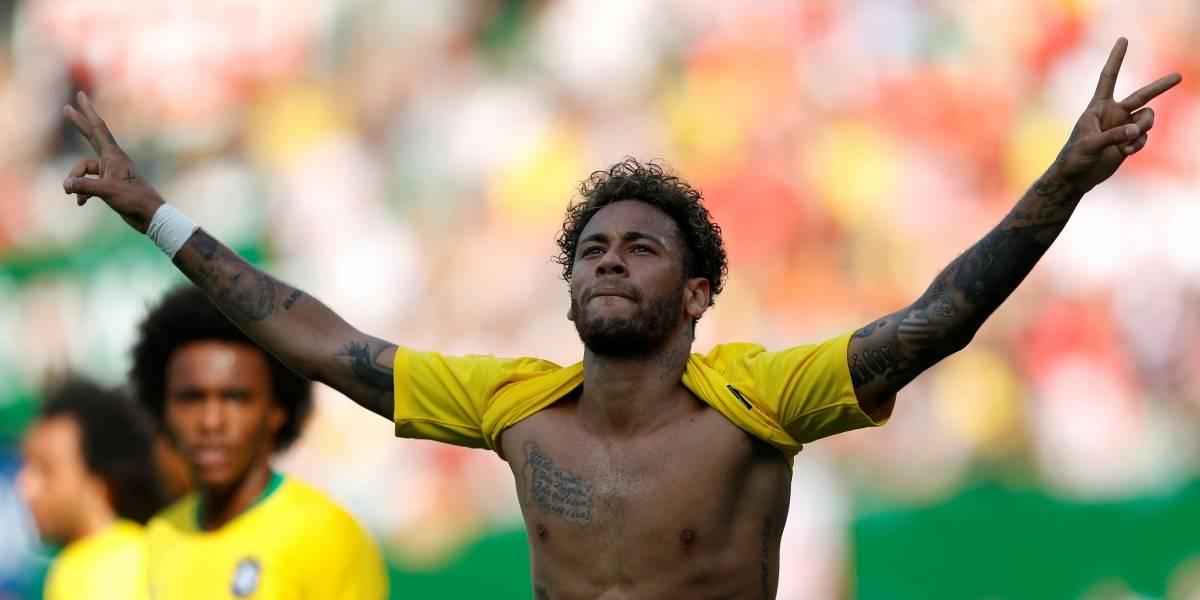 Neymar e Philippe Coutinho ampliam para o Brasil no segundo tempo contra a Áustria