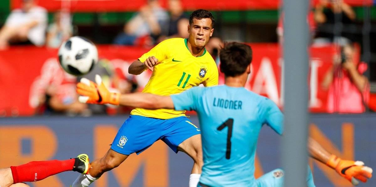 Philippe Coutinho marca terceiro gol do Brasil no Amistoso contra a Áustria