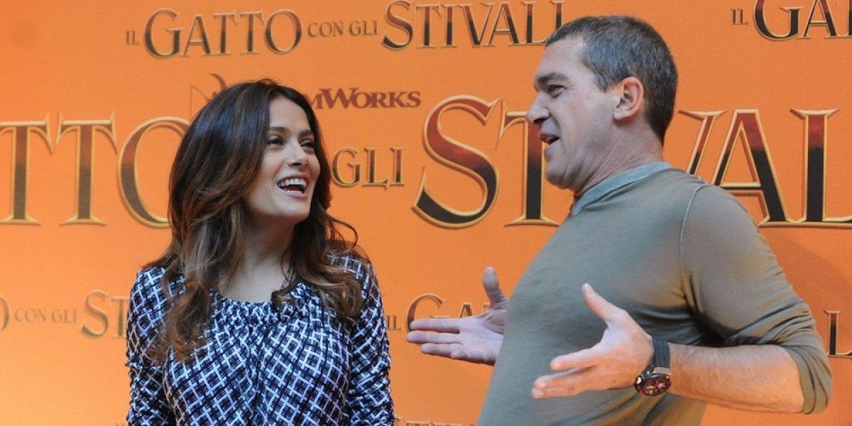 Antonio Banderas asegura que Salma Hayek protegió a sus amigos de Harvey Weinstein