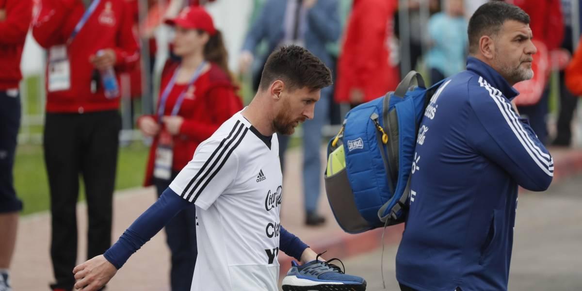 Rusia 2018: Messi desata la locura en el primer entrenamiento abierto de Argentina