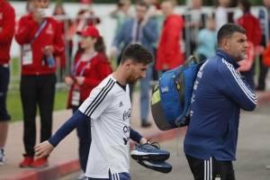 Messi desata la locura en el primer entrenamiento abierto de Argentina