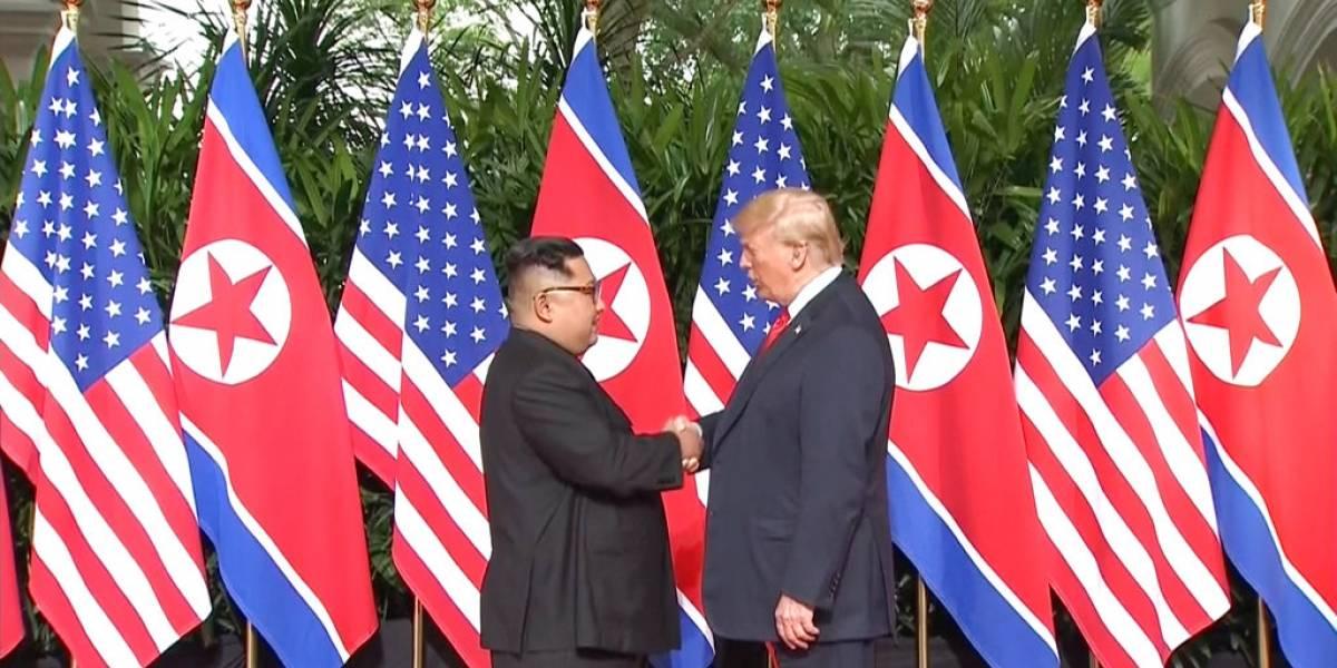 """Trump y Kim Jong-Un hicieron historia en Singapur: """"es un gran honor reunirme con él"""" dijo el mandatario de EEUU"""
