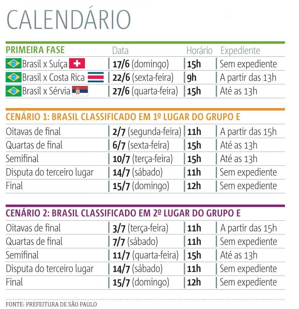 calendario copa do mundo